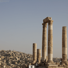 the Roman Temple of Hercules, Amman